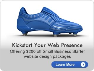 Kickstart your web presence.  Offering $200 off Small Business Starter website design packages.